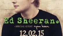 Fanoušky Eda Sheerana rozehřeje Ryan Keen, do prodeje jdou další vstupenky!