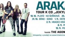 Arakain vyráží na podzimní tour s novou desku JEKYLL & HYDE