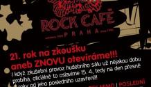 Večírek ke znovuotevření hudebního sálu klubu Rock Café!