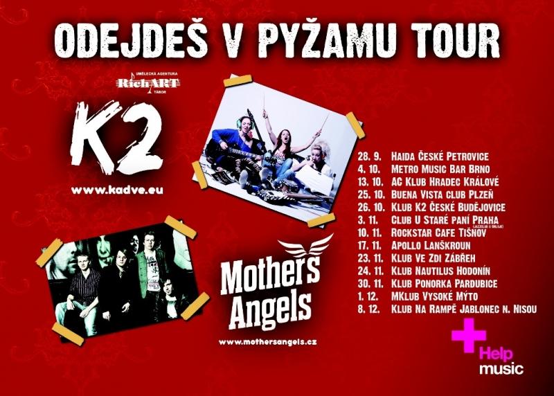 Mother's Angels a K2 vyráží na společnou tour