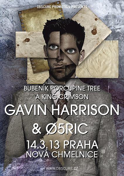 Fenomenální bubeník King Crimson GAVIN HARRISON vystoupí 14.3. v Praze!
