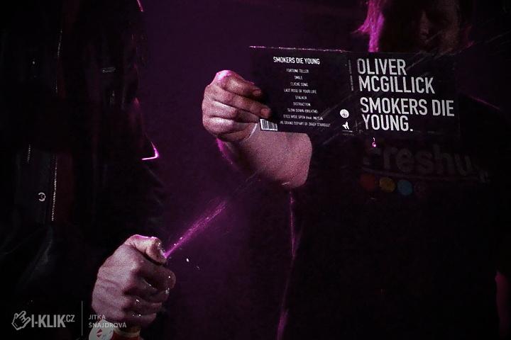 Oliver McGillick v Rock Café: Křest, melancholie a mrazení po celém těle!