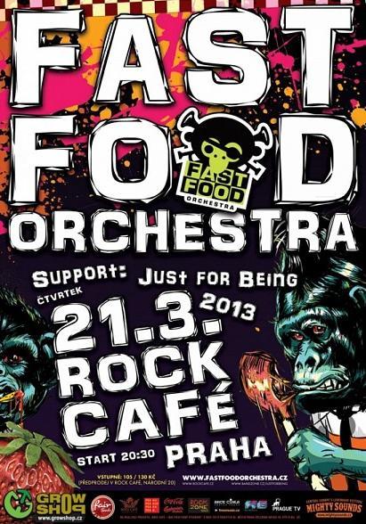 Fast Food Orchestra v pražském Rock Café!