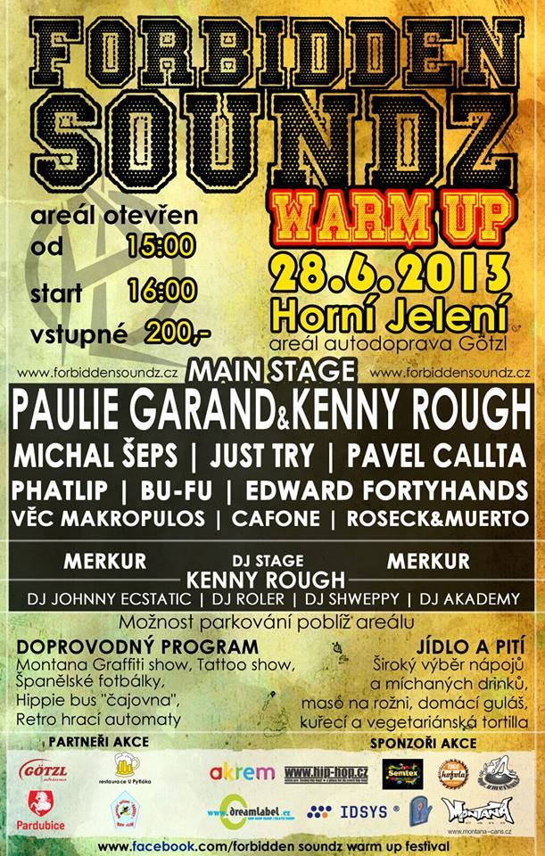 Warm Up festivalu Forbidden Soundz se blíží!