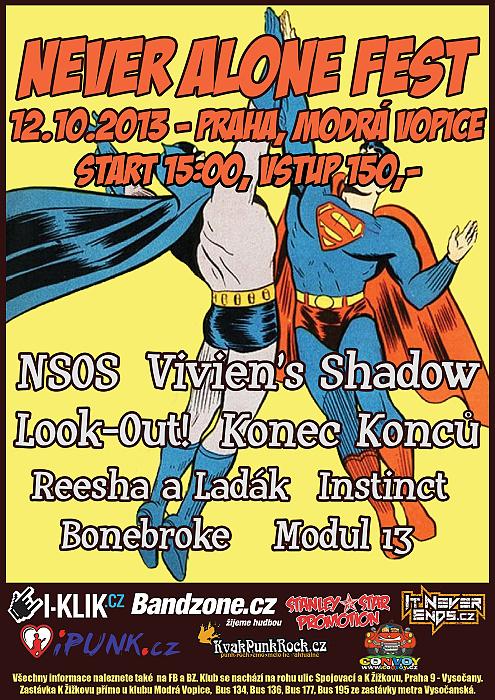 Never Alone Fest v Modré Vopici 12.10.2013!