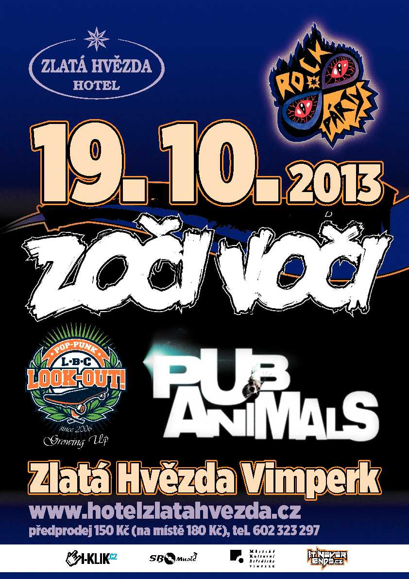 Osmé pokračování vimperské Rockpárty je za dveřmi a láká na slovenské Zoči Voči nebo domácí Pub Animals