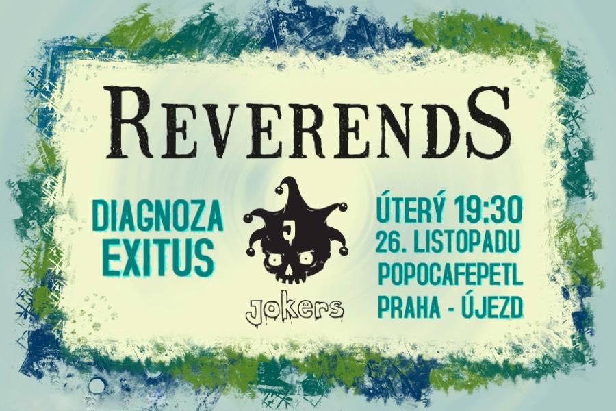 Kapela Jokers ve společnosti Reverends a Diagnoza Exitus v Popo!