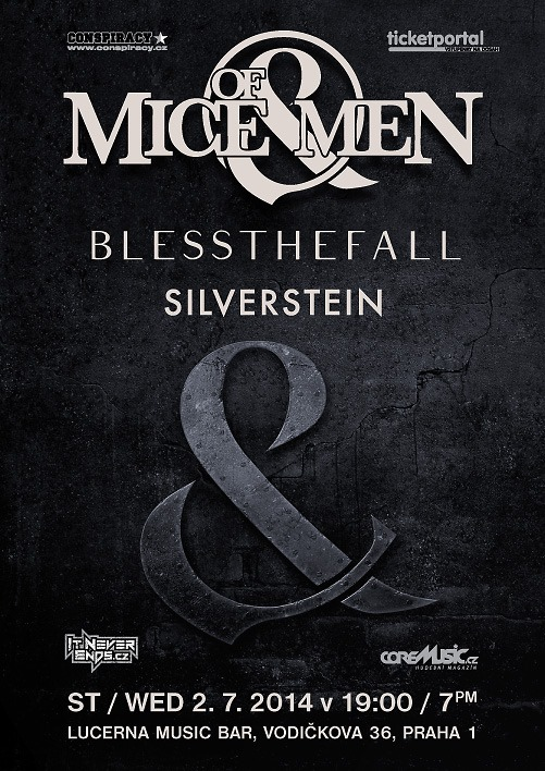 Of Mice & Men, Blessthefall a Silverstein se řítí na Prahu!