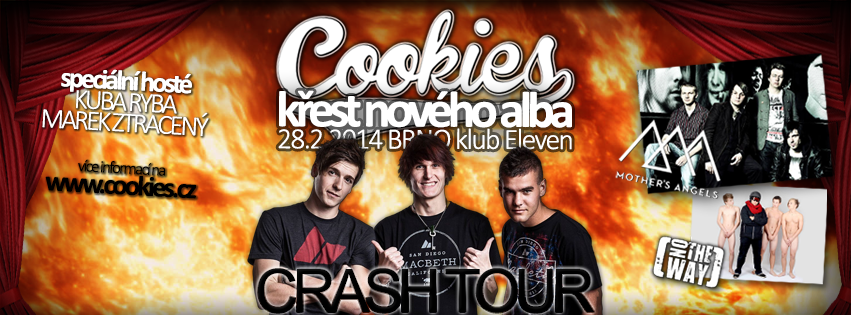 Kapela Cookies startuje TOUR a křtí v Brně se speciálními hosty své debutové album!