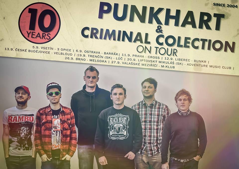 Punkhart s Criminal Colection vyjedou v září na společné tour!