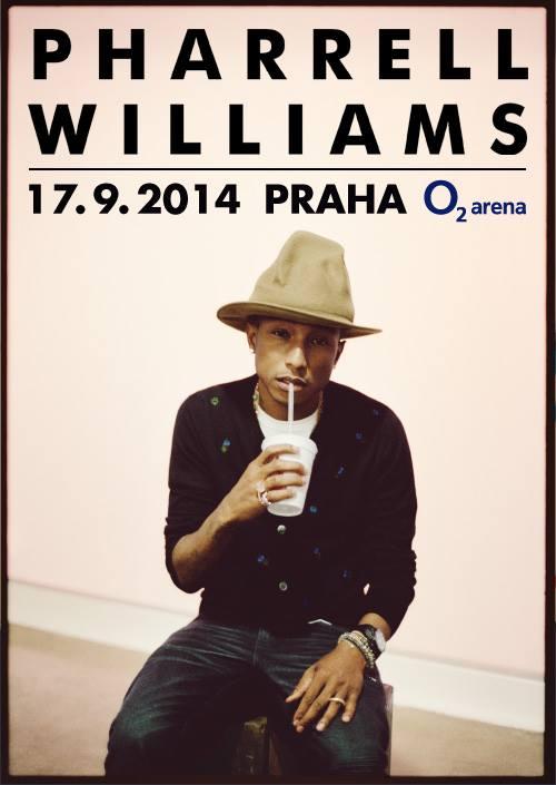 Pharrell Williams vystoupí poprvé v Praze!