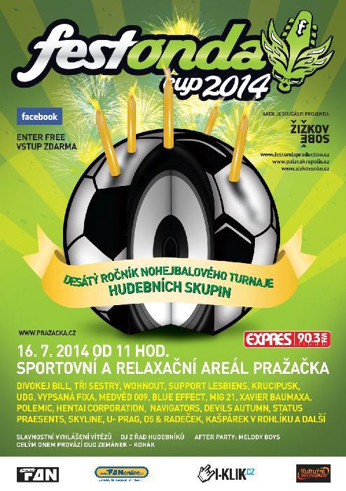 FESTONDA CUP 2014 nohejbalový turnaj muzikantů již po desáté!