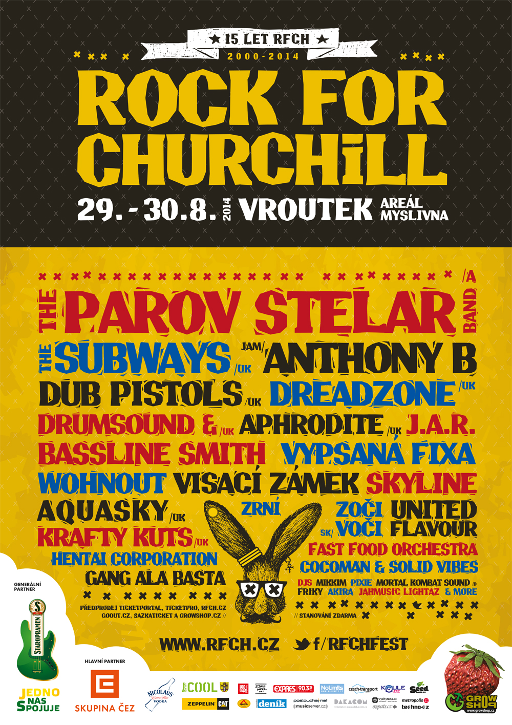 ROCK FOR CHURCHILL OSLAVÍ O VÍKENDU 15 LET!