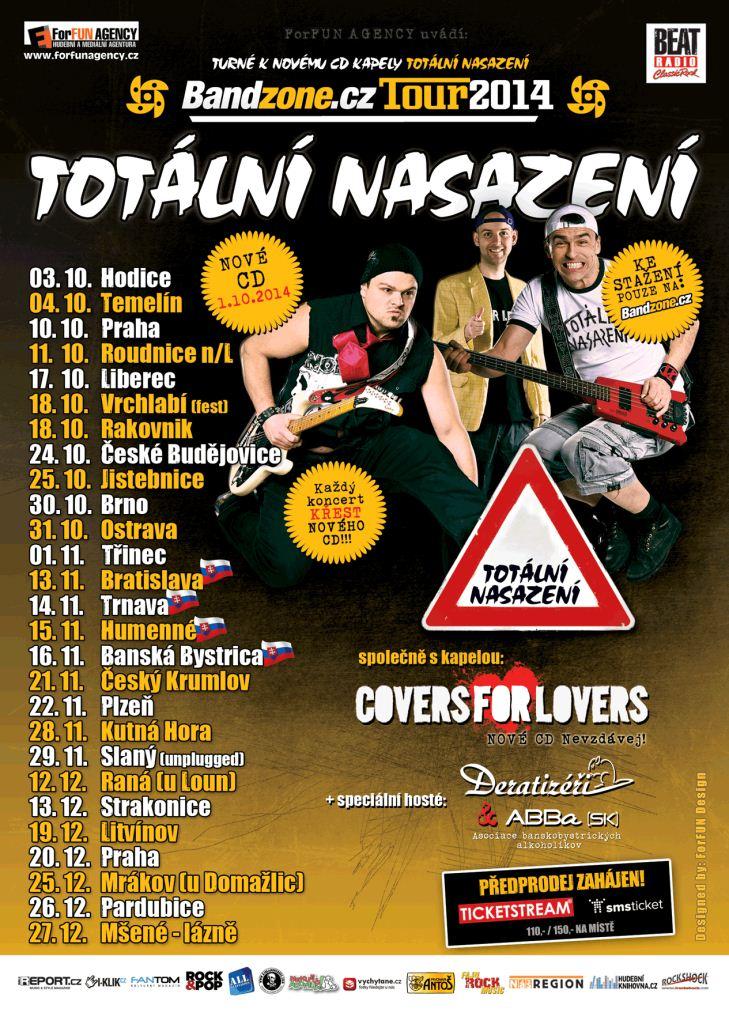 Totální nasazení a Covers for Lovers vyráží na BANDZONE.CZ TOUR 2014