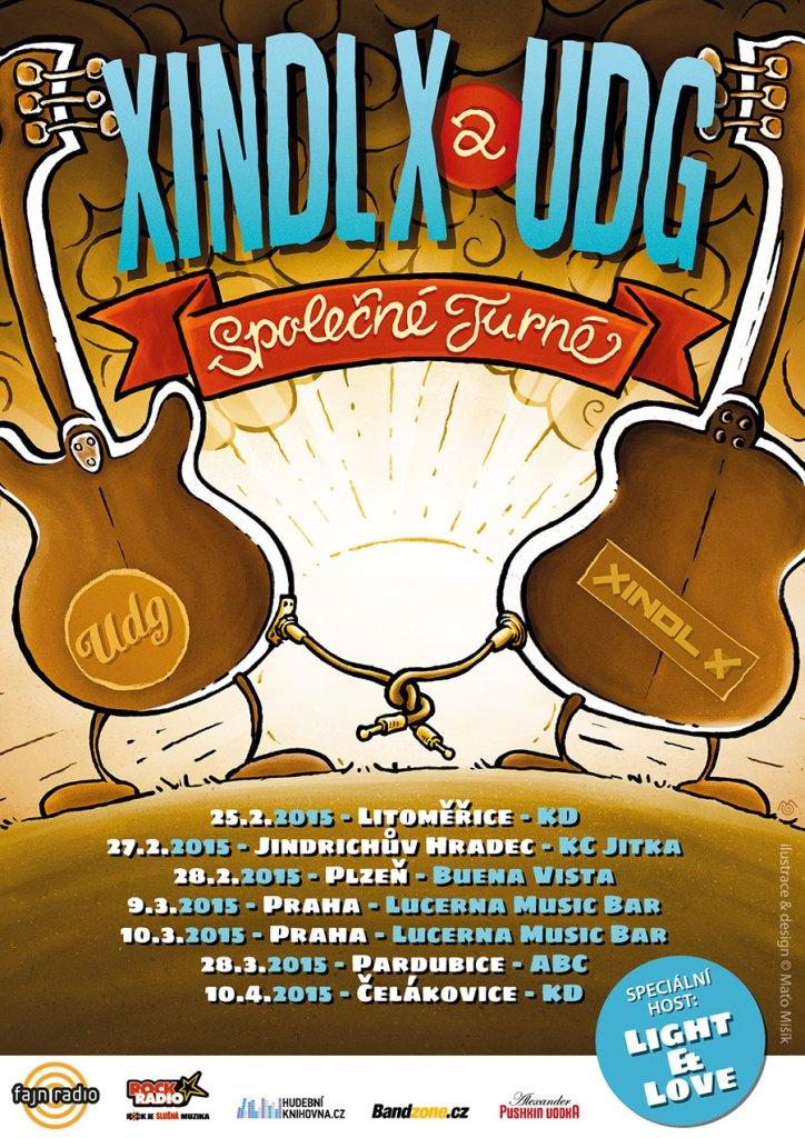 Xindl X a kapela UDG pojedou SPOLEČNÉ TURNÉ. V šesti městech odehrají sedm koncertů, začínají v únoru.