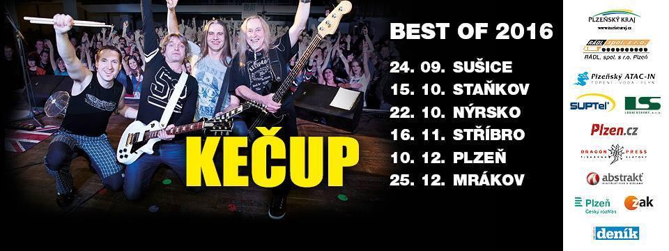 Kečup zakončí svou Best of tour 2016 v Mrákově
