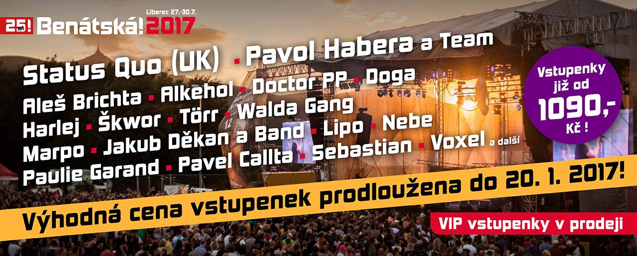 Festival Benátská! ohlašuje jména – večírek pro nedočkavce!