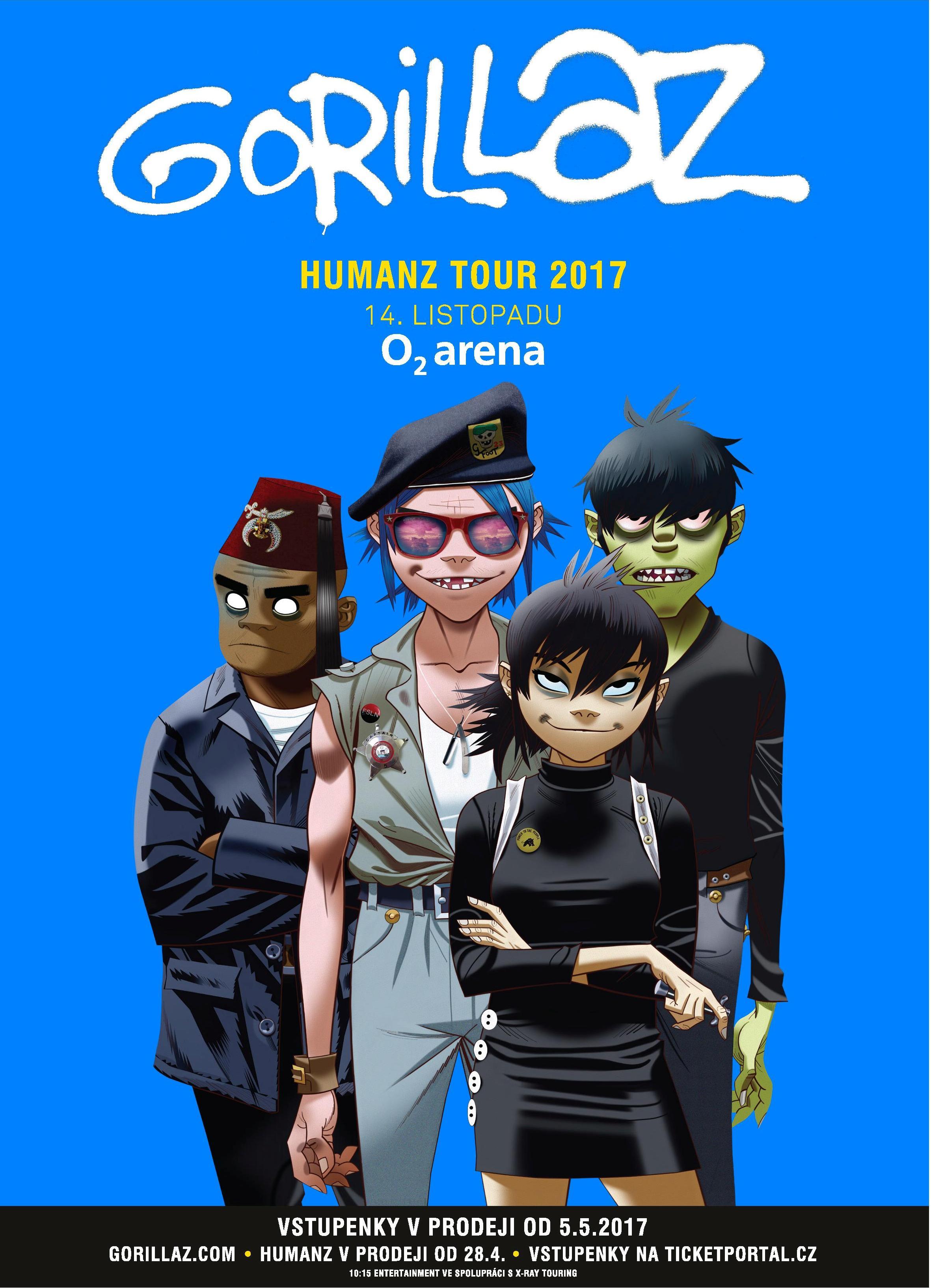 Gorillaz v Chicagu odstartovali Humanz Tour v listopadu se chystají na Prahu!