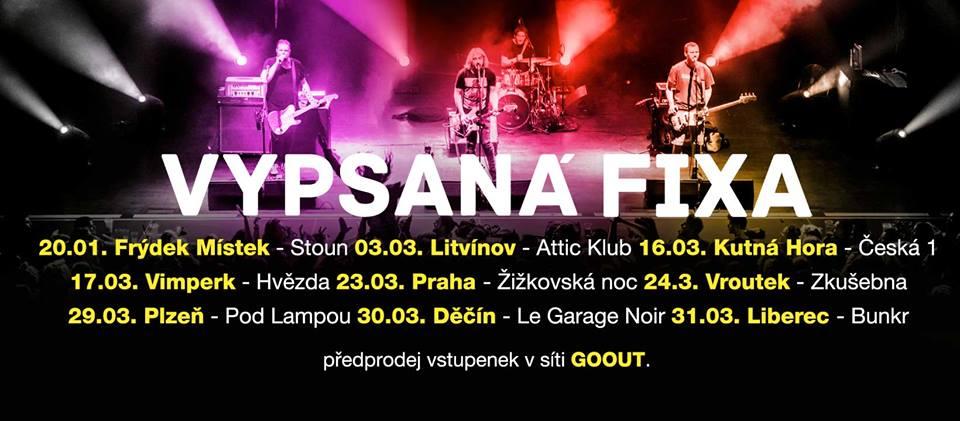Kapela Vypsaná fiXa navázala na podzimní turné!