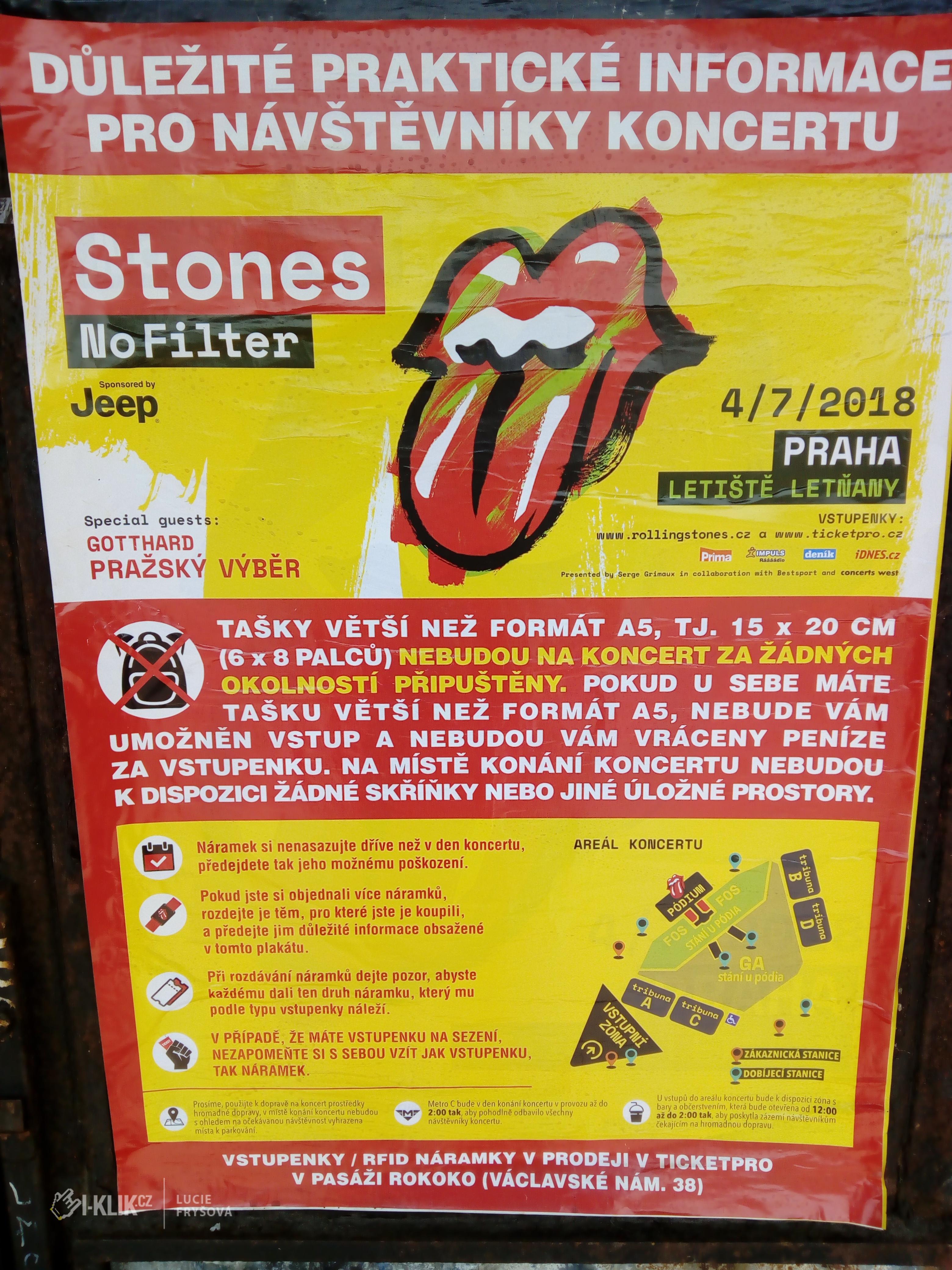 Jdete na koncert Rolling Stones? Máme pro Vás pár praktických rad!