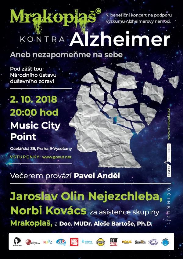 Benefiční koncert Mrakoplaš kontra Alzheimer 2018