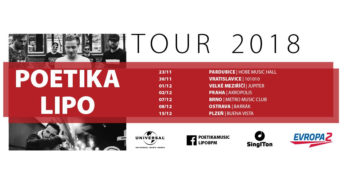 Poetika a Lipo vyrazí na společné turné
