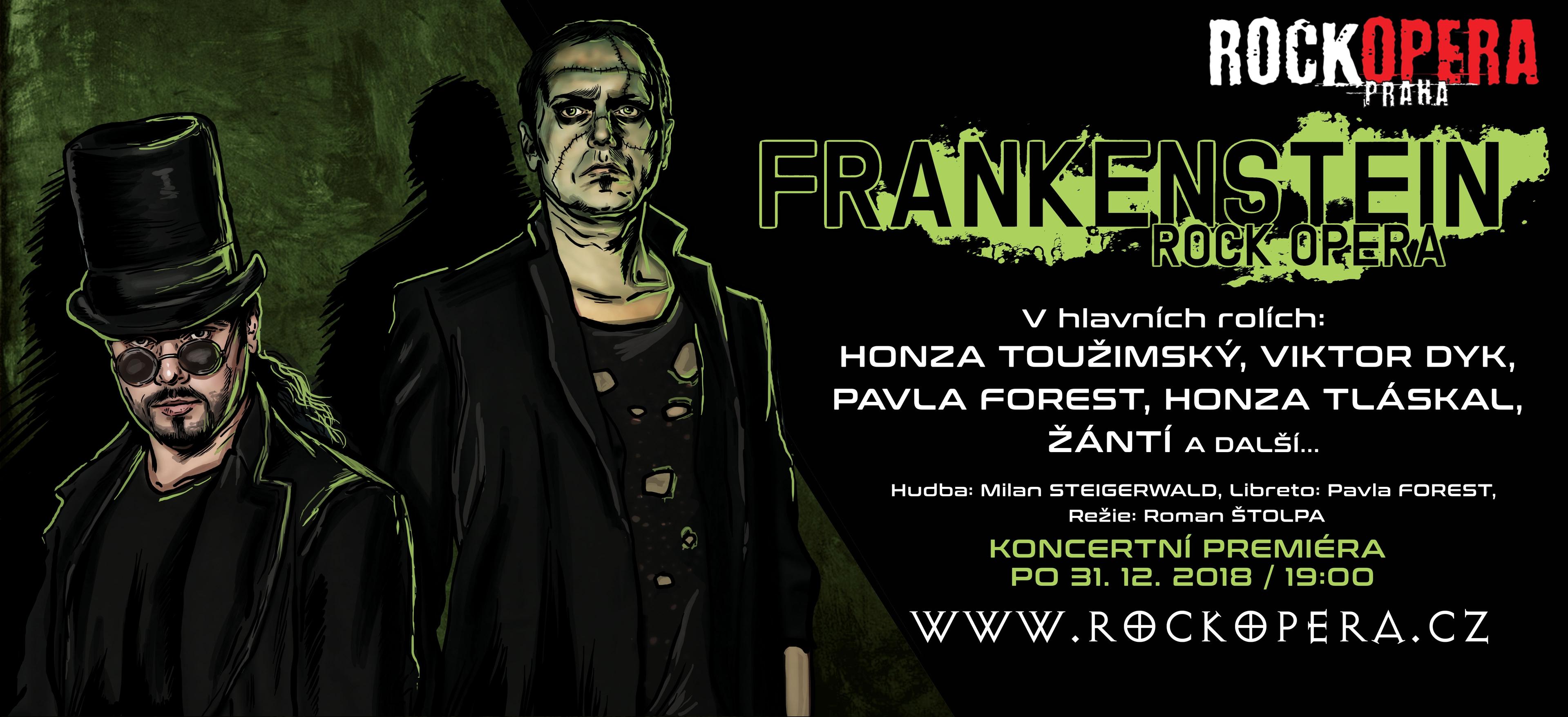 RockOpera Praha uvede na Silvestra šokujícího Frankensteina!