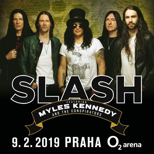 SLASH přijíždí do Prahy s MYLES KENNEDY a CONSPIRATORS!
