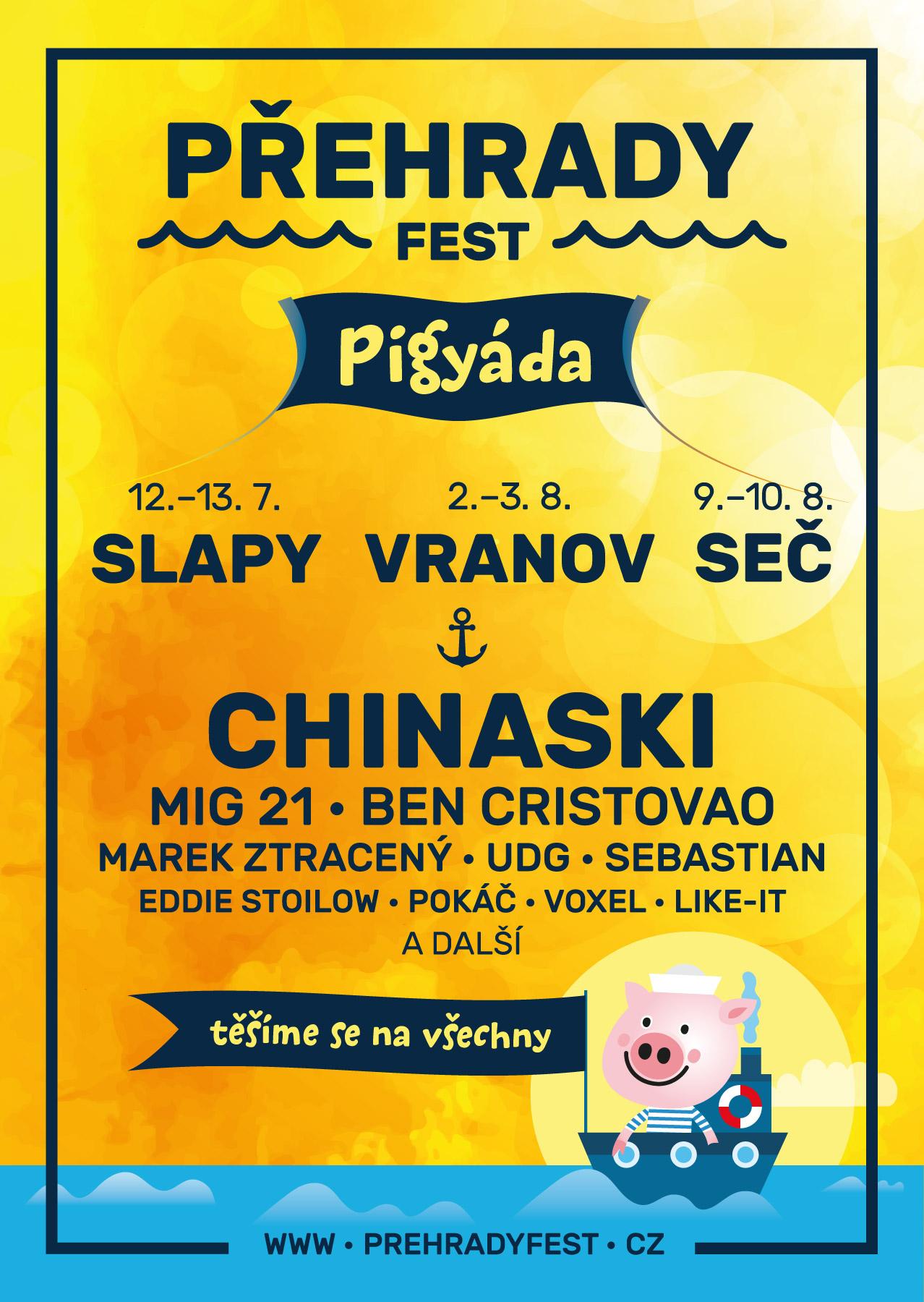 Druhý ročník rodinných open airů Přehrady fest nabídne tři zastávky