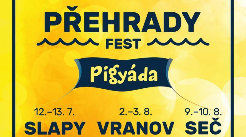 Festival Přehrady fest nabídne kromě hudby i množství vodních radovánek a nadupaný program pro děti s prasátkem Pigy!