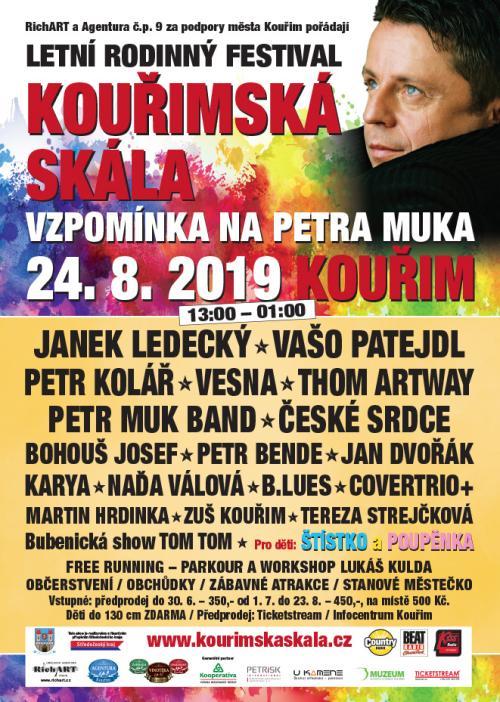 FESTIVAL KOUŘIMSKÁ SKÁLA 2019 UŽ JE NA DOSLECH!