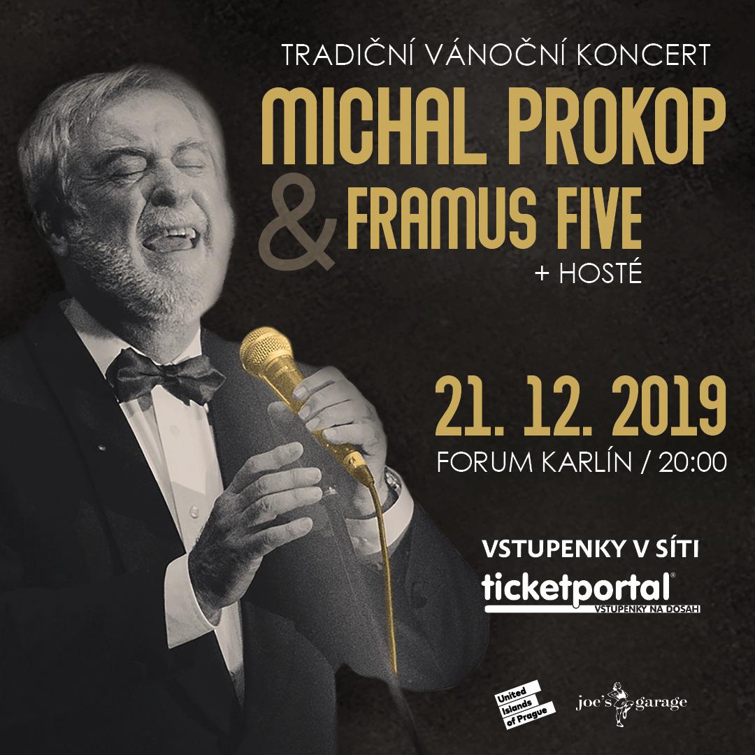 Vstupenky na Vánoční koncert Michala Prokopa v předprodeji