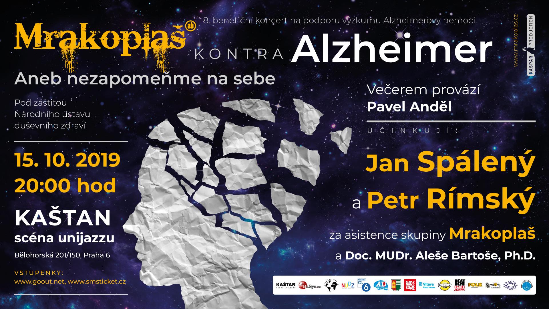 Benefiční koncert Mrakoplaš kontra Alzheimer 2019