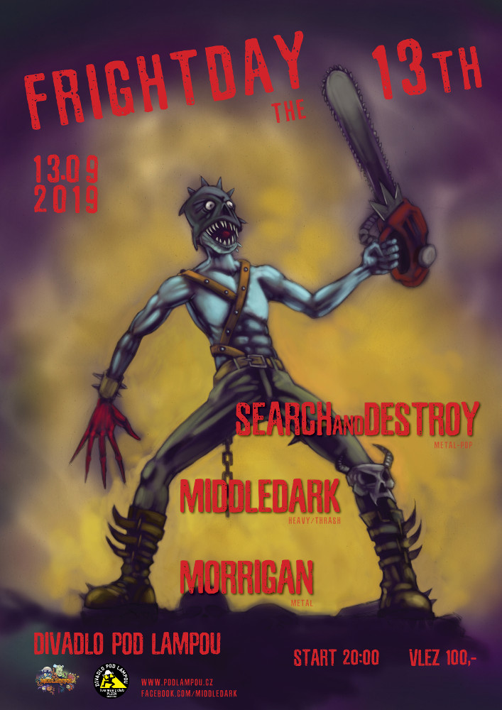 Frightday The 13th – Search and Destroy, Middledark a Morrigan v Plzni