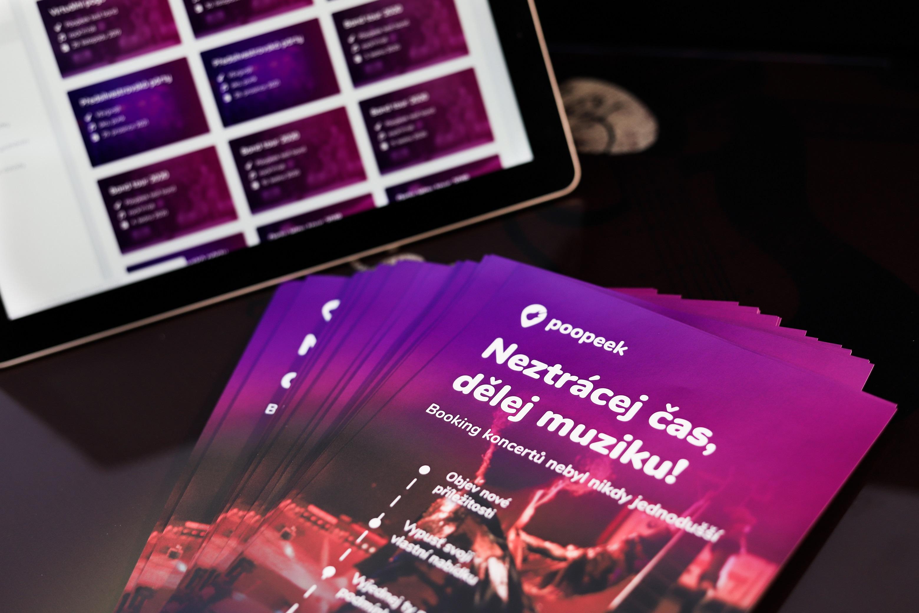 Představujeme Poopeek, novou bookingovou platformu pro interprety a organizátory!
