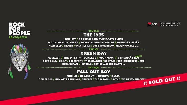Festival Rock for People hlásí vyprodáno