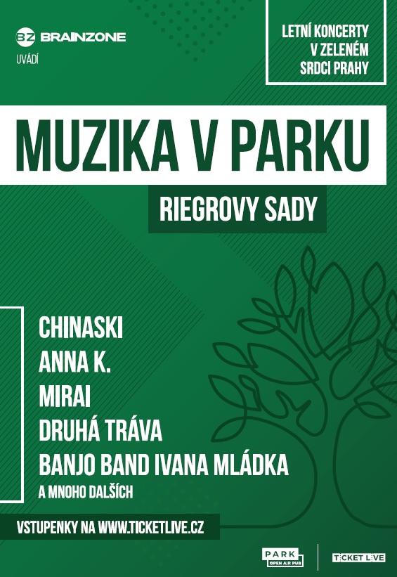 Muzika v parku nabídne živé letní koncerty v Praze. Začne s Chinaski.