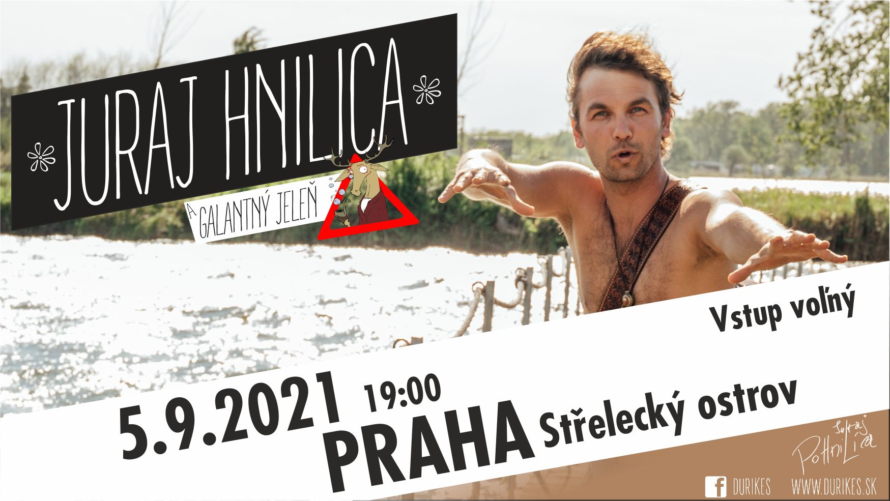 V neděli na pražském Střeleckém ostrově vystoupí slovenský zpěvák Juraj Hnilica
