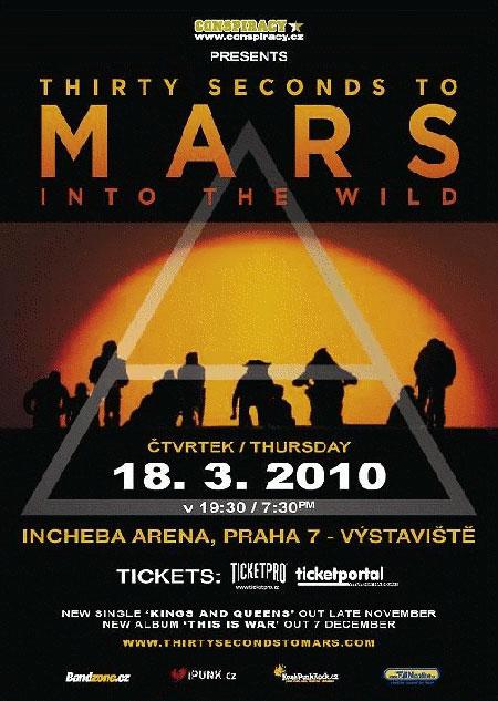 30 SECONDS TO MARS již dnes v Praze!