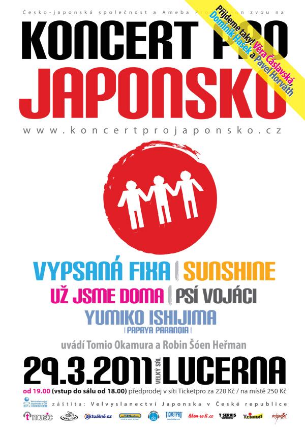 V pražské Lucerně proběhne již dnes Koncert pro Japonsko!