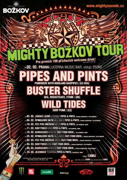 Pipes and Pints se vracejí na česká pódia, startují na Mighty Božkov Tour 2012!
