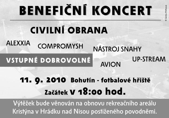 Benefiční koncert v Bohutíně!