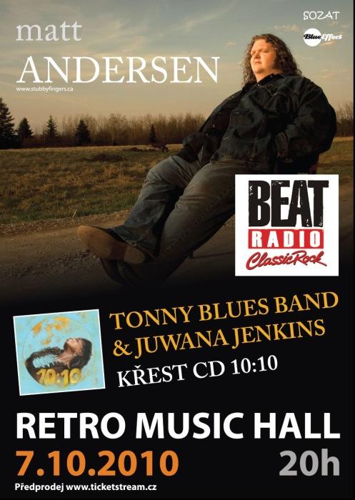 MATT ANDERSEN křtí CD 10:10 v Retro Music Hall (TZ)