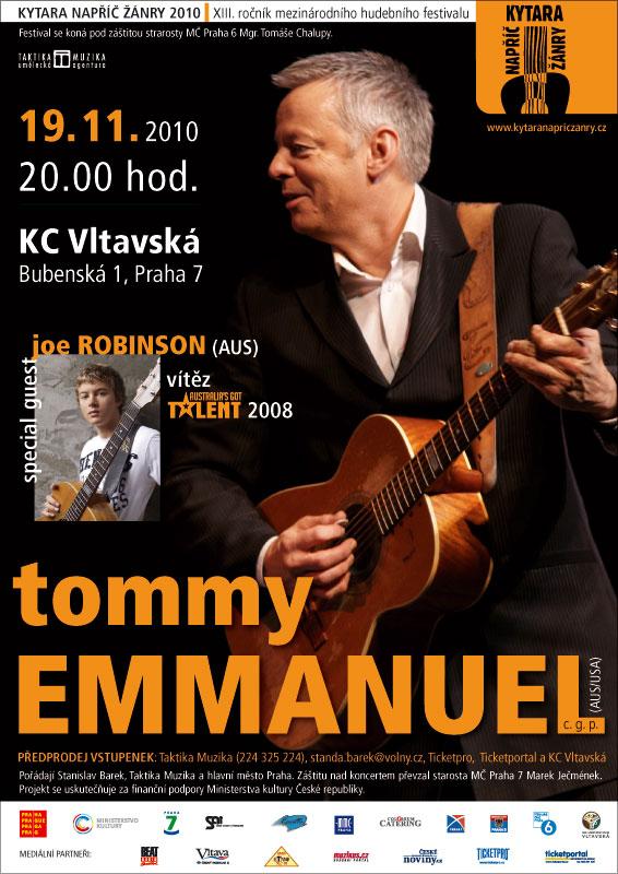 Tommy Emmanuel rozezvučí KC Vltavská