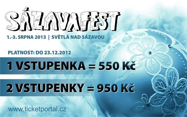 Sázavafest 2013 posílá do prodeje druhý balíček vstupenek!