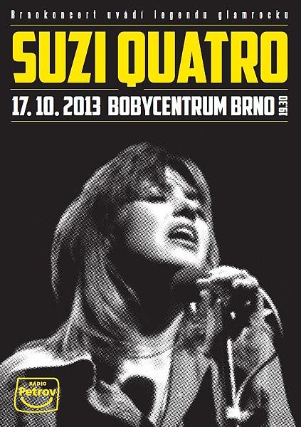 Legendární zpěvačka a baskytaristka Suzi Quatro vystoupí na jediném koncertě na Moravě!
