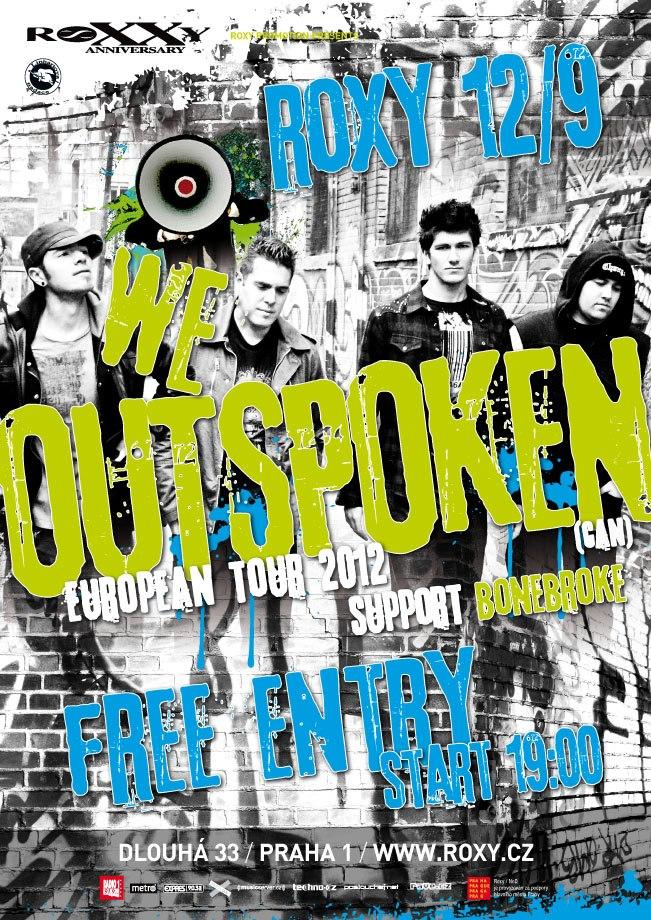 Kapela We Outspoken vystoupí v rámci svého evropského tour také v Praze!